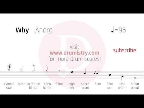 Andra - Why Drum Score