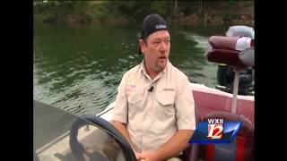 Celebrate Wilkes County: Cameron fishes at Kerr Scott Reservoir