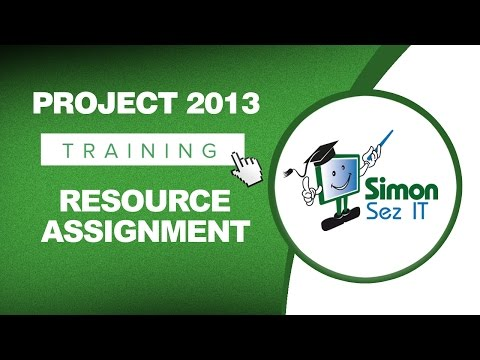 Microsoft Project 2013 Tutorial - Resource Assignment