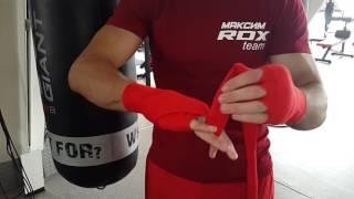 Как бинтовать руки. Боксерские бинты RDX.