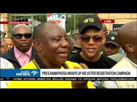 Pres Ramaphosa wraps up his voter registration campaign