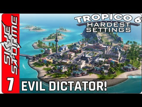 ◀ EVIL DICTATORSHIP AND EXCLUSIVE GOVERNMENT ISLAND! ▶ Tropico 6 Hardest Settings Ep 7