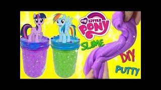 D.I.Y. MY LITTLE PONY MLP Twilight Sparkle & Rainbow Dash Do It Yourself Glue & Starch SLIME Putty