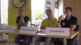 Pressekonferenz: Ratingen 04/19 - KFC Uerdingen (11.09.2016)