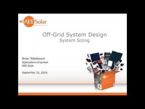 Off grid System Design Webinar