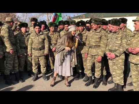 Leman Sixaliyeva -  Daglar Duman Olar - Esgerlere konsert