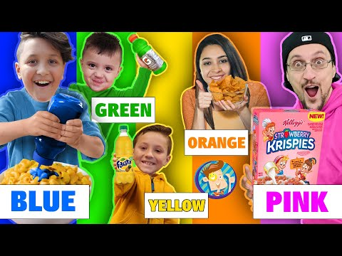 Eating Only ONE Color Of Food For 24 Hours!!! (FV Family Challenge)