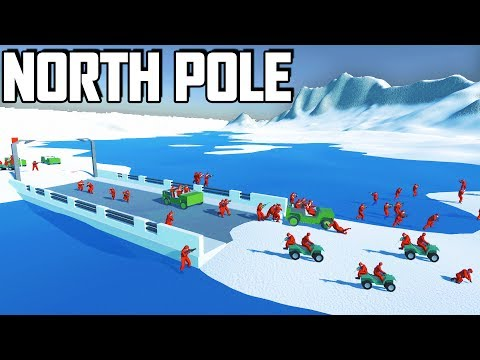 BATTLE For the NORTH POLE!?  NEW Snowy Mountains Map (Ravenfield Early Access Gameplay - Beta 7)