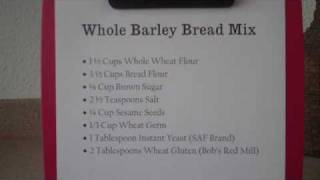 Baking Whole Barley Bread, Video  2- Making The Bread Mix