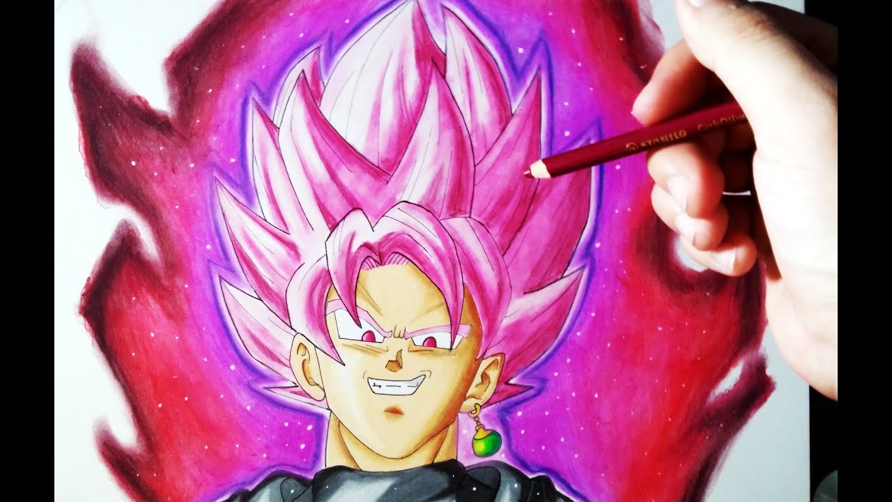 Cmo Dibujar a Goku Black SSJ Rose con Lpices de Colores