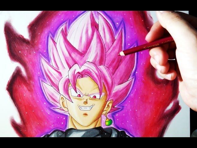 Como Dibujar A Goku Black Ssj Rose Con Lapices De Colores Tutorial