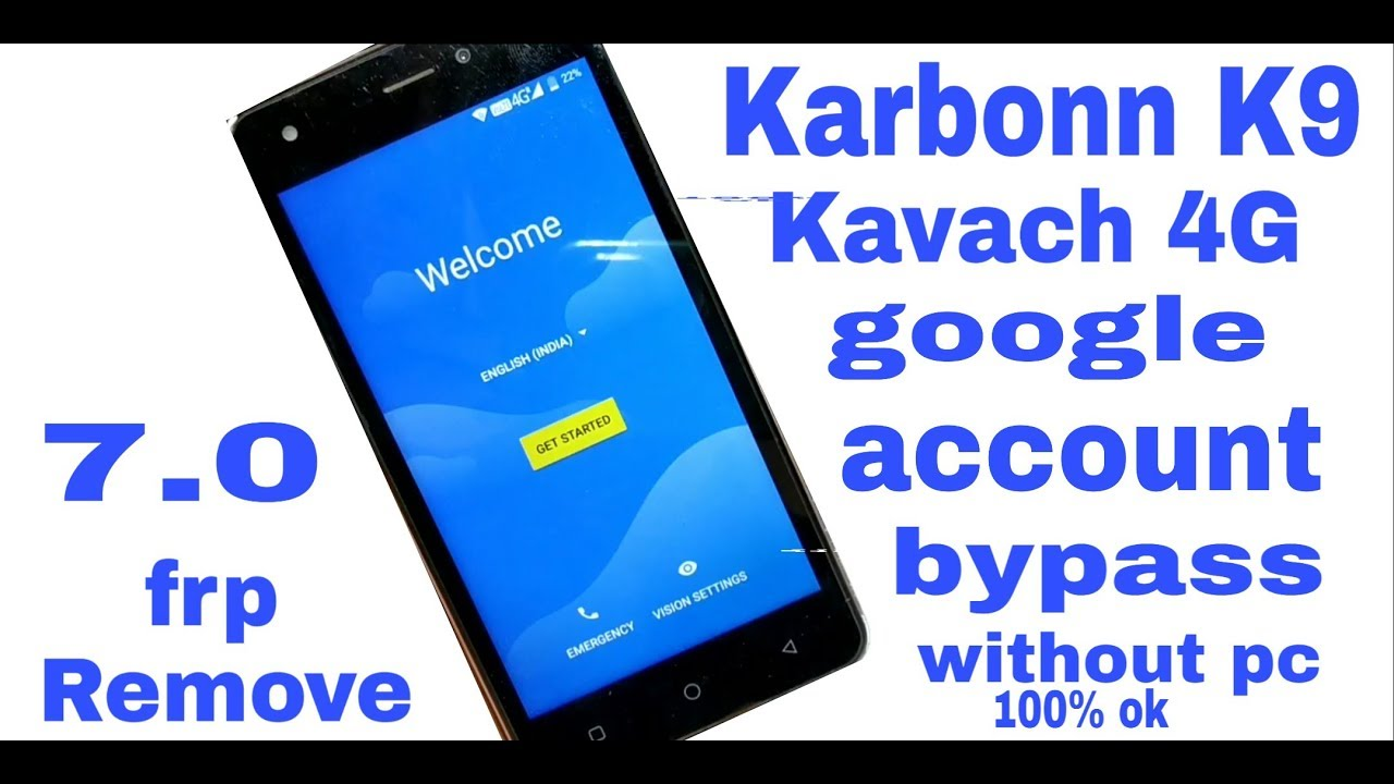 Karbonn K9 Kavach 4g frp lock remove 100% ok