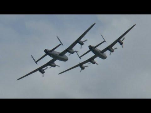 2 Lancasters! RAF & Canadian Lancasters display – Eastbourne