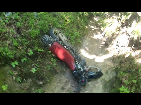enduro hill climbing and big crash , fail - youtube