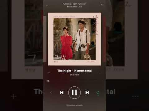 The Night Instrumental Eric Nam  - Encounter Ost