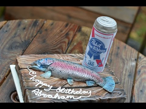 Beer Can Tutorial for Fishing Cake