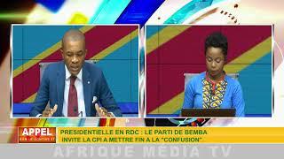 APPEL CONTINENT DU 05 09 2018: LE PARTI DE BEMBA FAIT APPEL A LA CPI POUR RÉTABLIR SON ELIGIBILITE