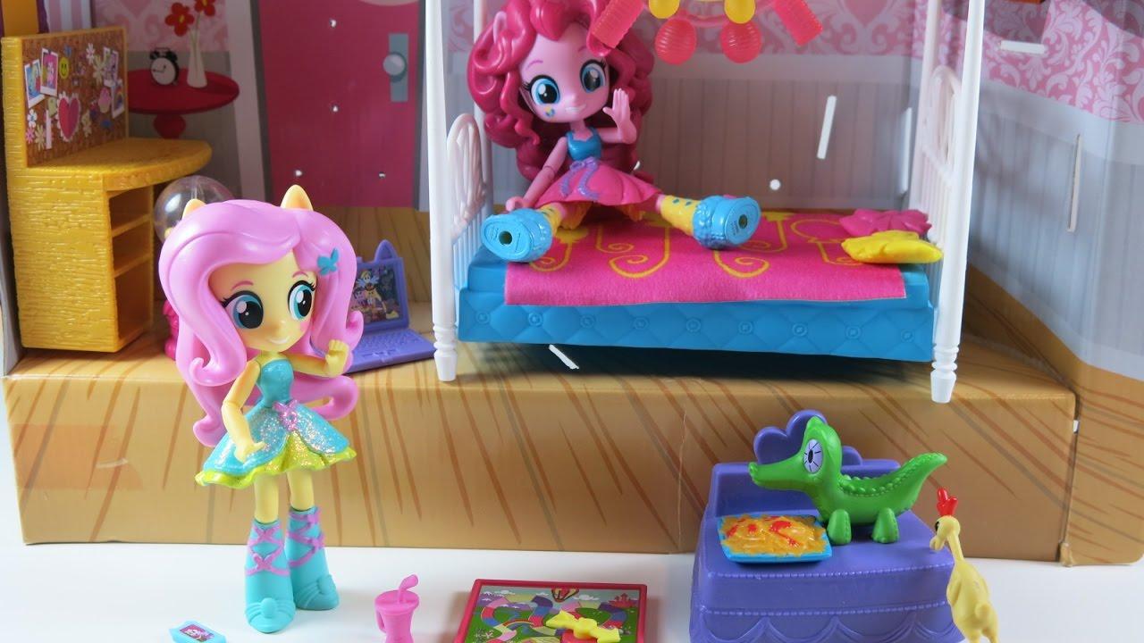 Unboxing My Little Pony Equestria Girls Minis, Pinkie Pie, Slumber Party Bedroom  Set