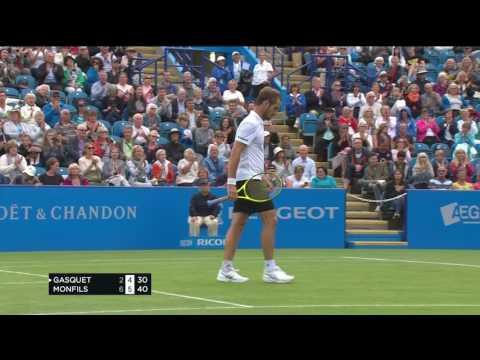 Richard Gasquet - hot shot - Aegon International Eastbourne - Friday 30 June 2017