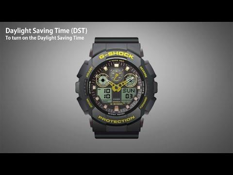 CASIO GA-100 Series Operation Video-Daylight Saving Time