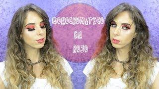 Makeup Monocromático rojo