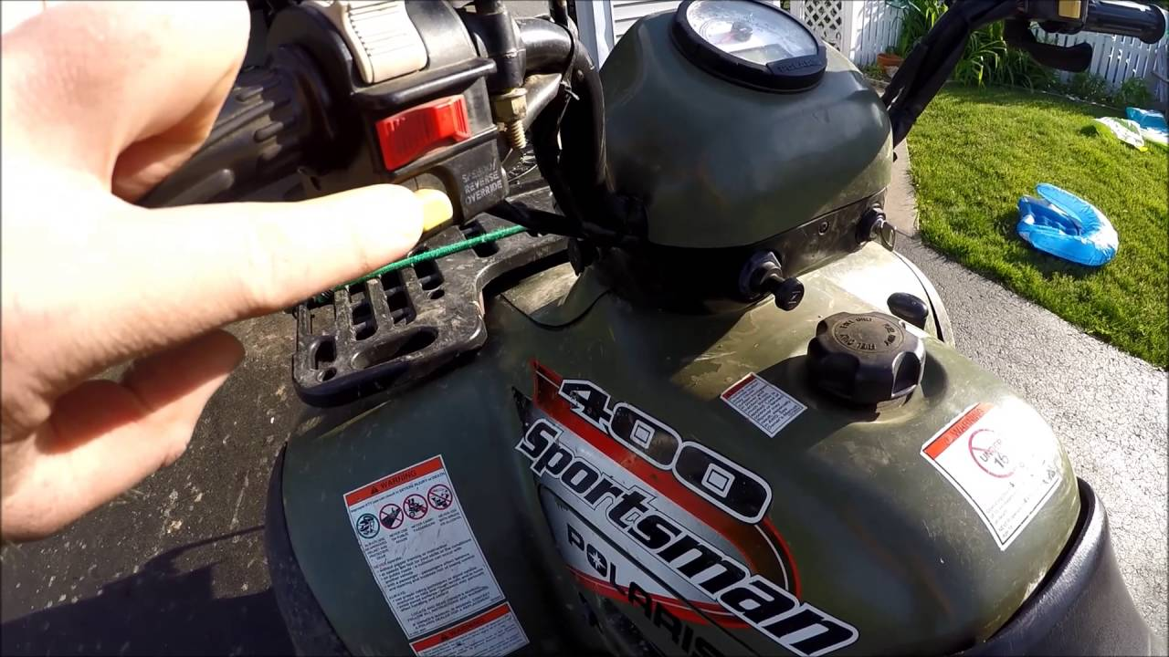 How to drive in reverse on your Polaris Sportsman ATV 4 Wheeler