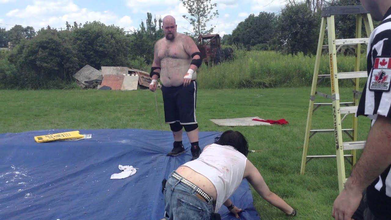 ian knoxx vs t o d chbw championship part 1 backyard wrestling