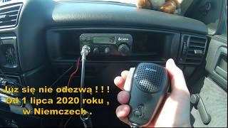 Zakaz używania CB Radia przez kierowców w Niemczech od 1-7-2020 roku .
