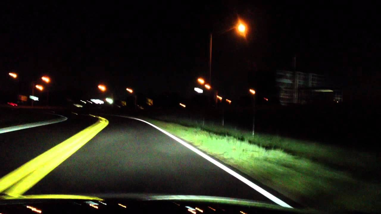 Led Headlights For Cars >> Full LED Headlights - Driving at Night - YouTube