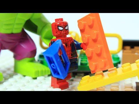 Lego Spiderman Brick Building Playground Animation
