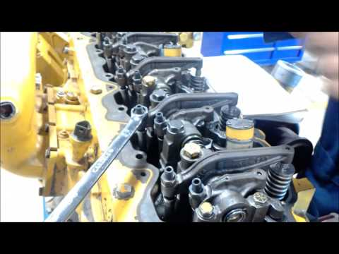 Setting Valves On A CAT C 7 YouTube