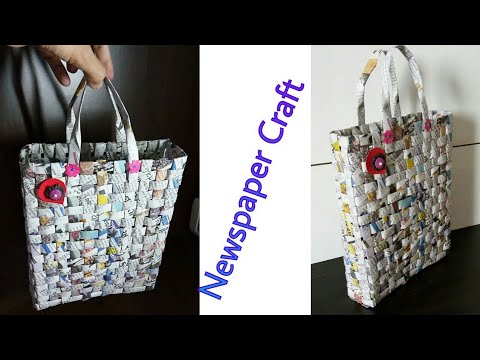 How to make paper bag at home with newspaper