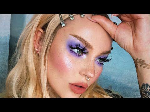 chatty makeup tutorial / lavender eyes