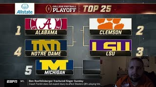 College Football Playoff Reaction!!!