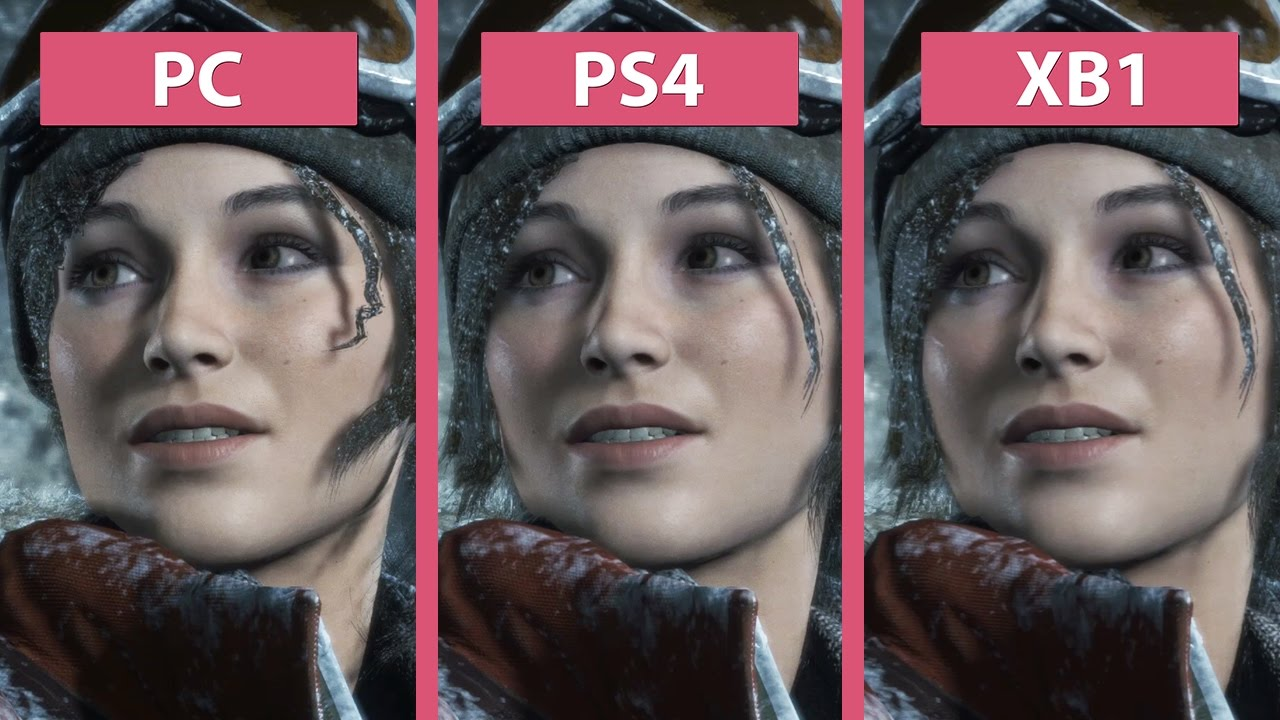 Rise Of The Tomb Raider Pc Vs Ps4 Vs Xbox One Graphics Comparison Youtube