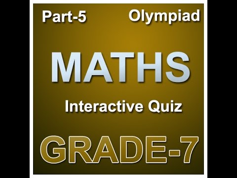 7th Class math olympiad Interactive quiz on numbers
