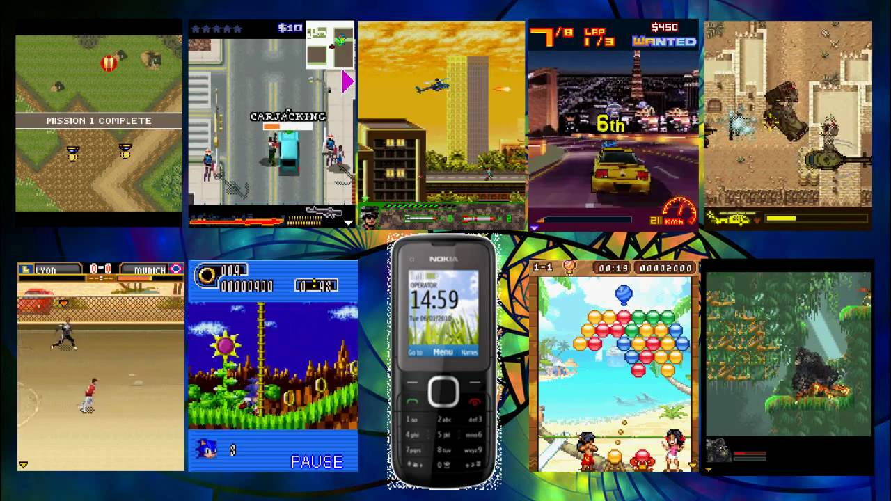 Nokia C1-01 Games - YouTube