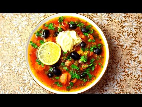 СОЛЯНКА Сборная Мясная (Суп) ПРОСТОЙ РЕЦЕПТ очень вкусной СОЛЯНКИ Мамины рецепты