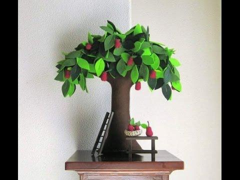 Paper Mache Tree Decorations