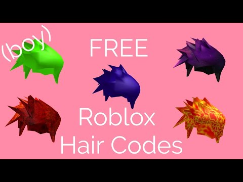 Free Roblox Hair Codes Boy Youtube
