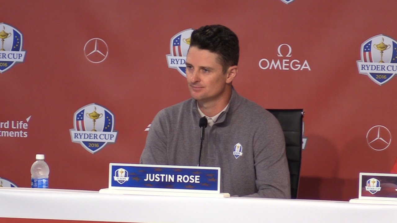 Image result for justin rose ryder cup press image