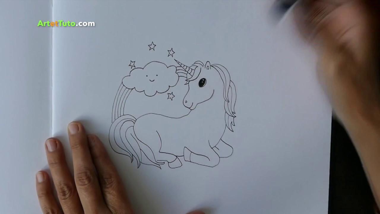 Comment Dessiner Une Licorne Kawaii Tutoriel Youtube