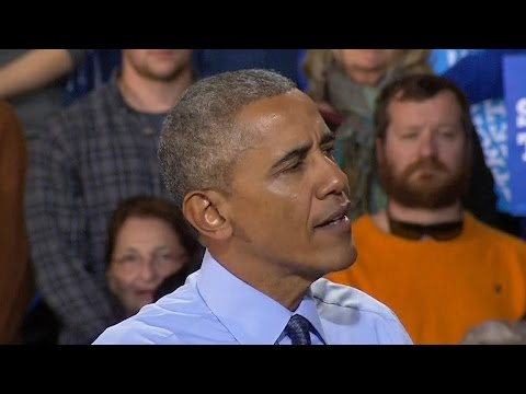 Watch: President Obama makes last pitch for Clinton votes in Durham, New Hampshire