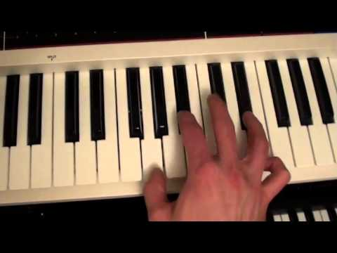 Axel F Keyboard How To Play Slowed Down With Notes Youtube