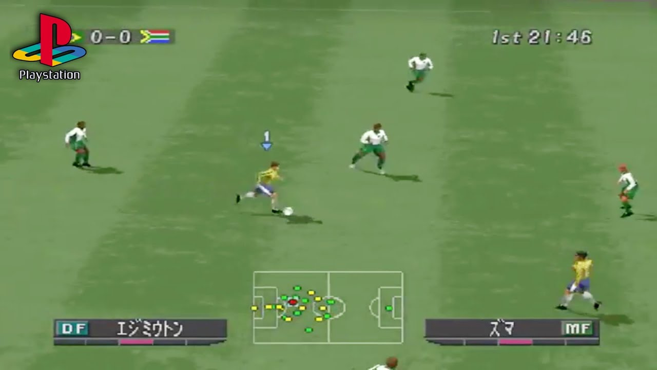 World Soccer Winning Eleven 2002 (PS1 Gameplay)