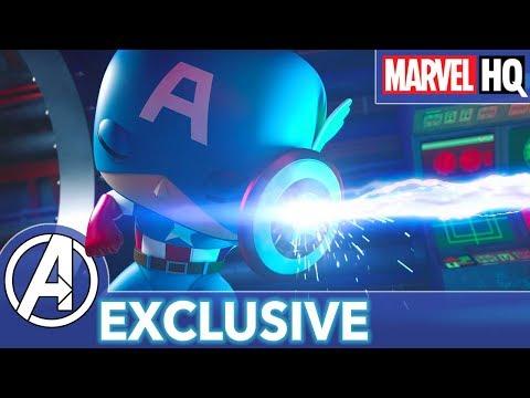 Cap Goes For a Swim! | Marvel Funko Presents: Submarine Showdown (stars Captain America & Red Skull)