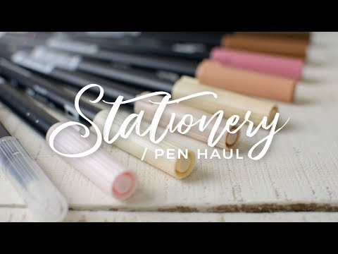 Aesthetic Stationery/Pen Haul + Giveaway!
