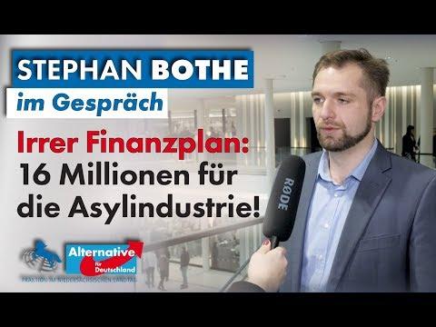 Irrer Finanzplan: 16 Millionen Euro für die Asylindustrie! Stephan Bothe, MdL (AfD) im Gespräch