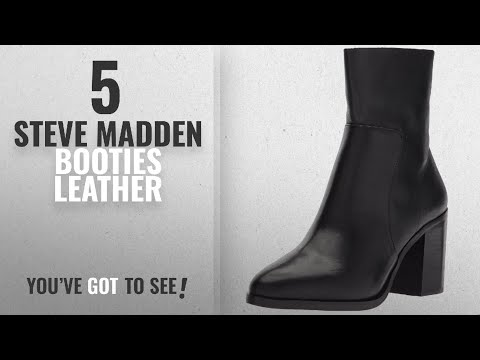 Top 5 Steve Madden Booties Leather [2018]: Steve Madden Women's Rewind Fashion Boot, Black Leather,
