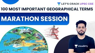 100 Most Important Geographical Terms | Marathon Session | UPSC CSE 2021 | Anirudh Malik